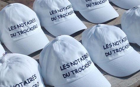 Casquettes brodées Notaires du Trocadéro