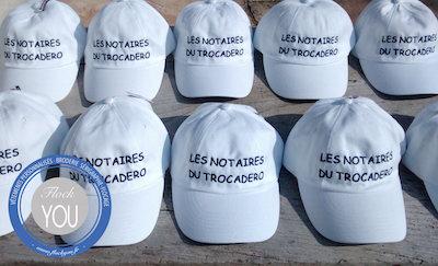 Casquettes brodées Les notaires Paris