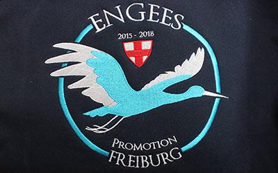 Logo brodé Engees