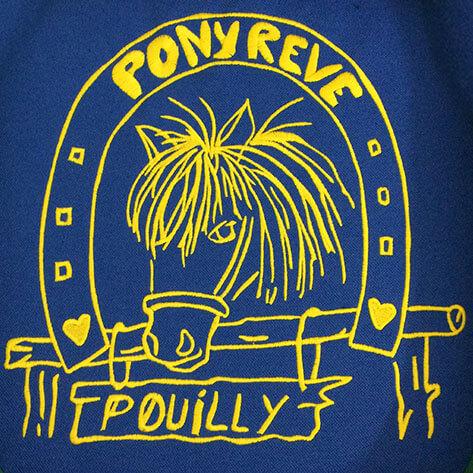 Logo imprimé pour un Poney Club