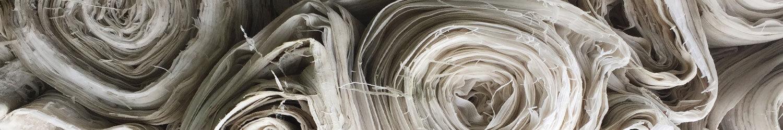 Rouleau de tissu issu du recyclage textile