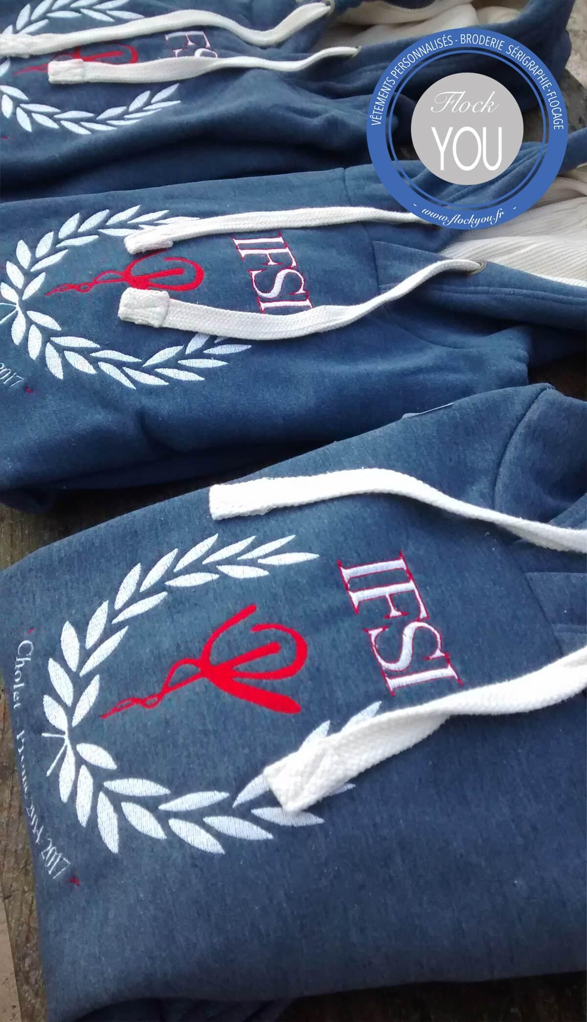 Sweats personnalisés IFSI Cholet Nantes